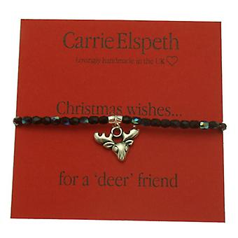 Carrie Elspeth Christmas Wishes....for a deer friend Sentiment Stretch Bracelet