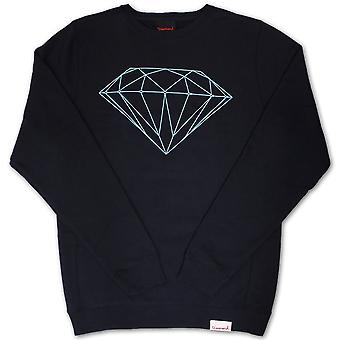 Diamond Supply Co brillante Crew Neck Sweatshirt Navy