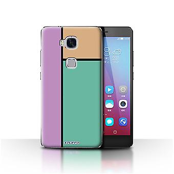 STUFF4 Case/Cover for Huawei Honor 5X/GR5/3 Tiles/Turquoise/Pastel Tiles