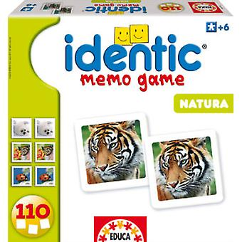 Educa Identic Natura (110 letters) (Kids , Toys , Table games , Memory games)