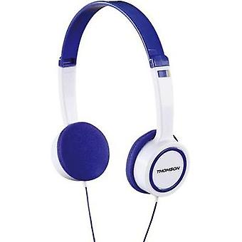 Children Headphone Thomson HED1105BL On-Ear-Kinderkopfhörer On-ear Volume limiter, Light-weight headband White, Blue