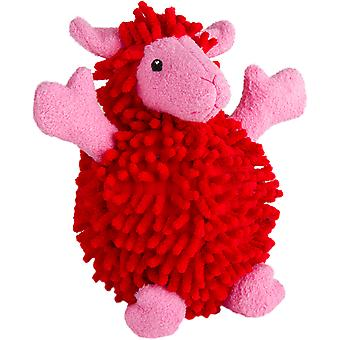 Trusty Pup Fuzzy Wuzzy Sheep-Red Small 774057
