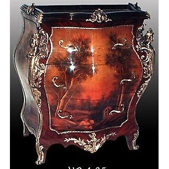 baroque chest of drawers with painting antique style  MoPa0025