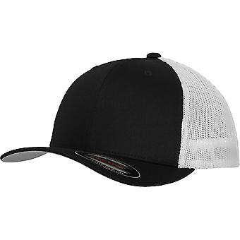 Flexfit mesh trucker Stretchable Cap - Black / White