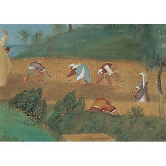 Lotto Lorenzo storie di Santa Brigida 1524 cinquecentesco affresco Italia Lombardia Trescore Bergamo Oratorio Suardi Everett CollectionMondadori Portfolio Poster stampa