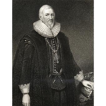 Sir Hugh Middleton oder Myddelton C1560-1631 walisischen Goldschmied Clothmaker Bankier Unternehmer Minenbesitzer und Autodidakt Ingenieur Projektor des New River Systems aus Buch LodgeS britische Porträts Publi
