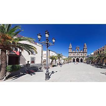 Catedral de Santa Ana at the Plaza de Santa Ana Las Palmas de Gran Canaria Gran Canaria Spain Poster Print