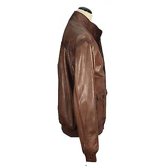 Zetton - light brown lamb nappa jacket biker leather jacket Brown taupe