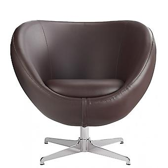 Balisy Modern Swivel Chair In Brown Contemporary Funky Design