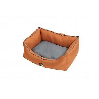 Buster Premium Sofa Bed Leather Brown/steel Grey 45x60cm