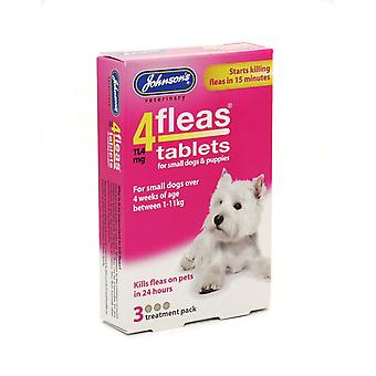 4fleas Tablets - Small Dogs & Puppies Upto 11kg 3 Tablets (Pack of 6)