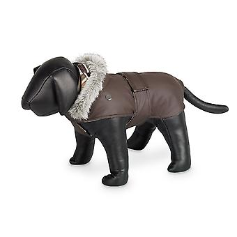 Nobby Marian Dog Coat Brown With Hood 29cm