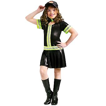 Fire Chief Fighter Fireman Uniform Dress Up Girl Costume