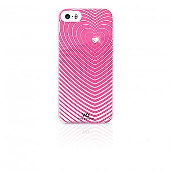 White DIAMONDS Shell iPhone 5/5s/FIND hjerteslag Pink