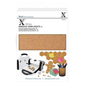 Xcut A5 klæbende kork plader 15pcs
