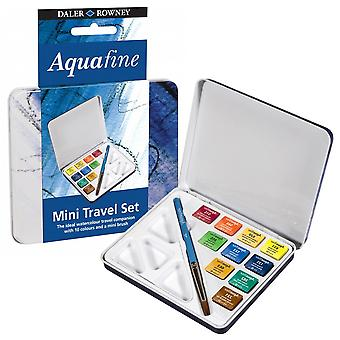 Daler Rowney Aquafine Mini Watercolour Travel Set