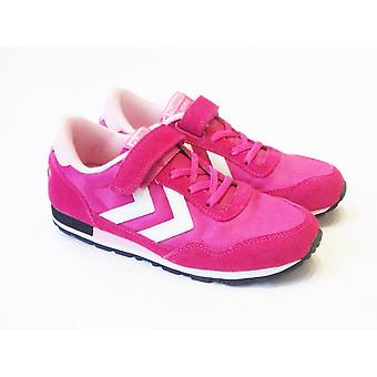 Hummel Hummel Reflex Jr Honeysuckle Pink Girls Retro Trainers