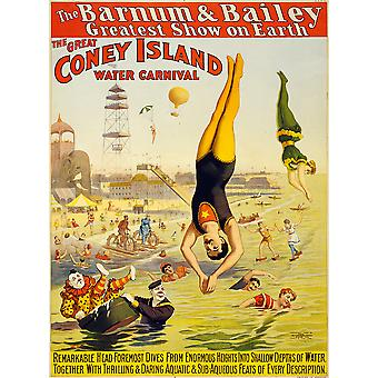 Barnum & Bailey Coney Island Water Carnival Poster Print Giclee