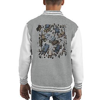 Survive The Walking Dead Battle Scene Kid's Varsity Jacket