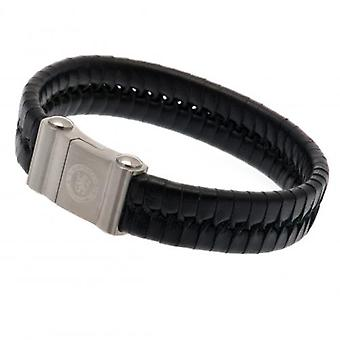 Chelsea Single Plait Leather Bracelet