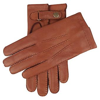 Dents Canterbury Cashmere Lined Deerskin Leather Gloves - Havana Brown