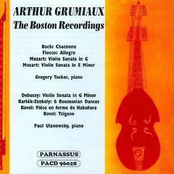 Arthur Grumiaux - Arthur Grumiaux: The Boston optagelser [CD] USA import