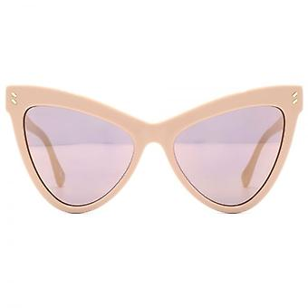 Stella McCartney Essentials Extreme Cateye Sunglasses In Pink Mirror