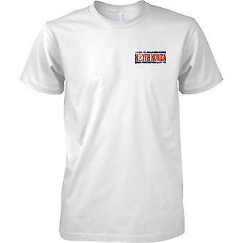 Coreia do Norte Grunge país nome bandeira efeito - crianças peito Design t-shirt