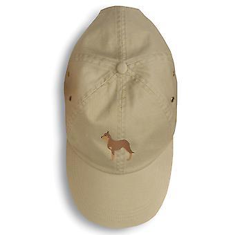 Carolines schatten BB3429BU-156 Australische Kelpie hond geborduurd Baseballcap