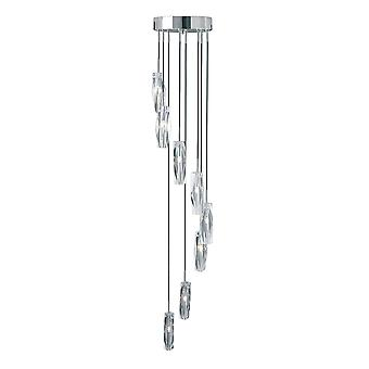 Searchlight 888-8 Sculptured Ice 8 Light Halogen Ceiling Pendant