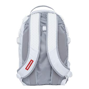Sprayground White Knit Camo Rubber Spython Backpack - White