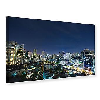 Leinwand drucken Skyline Nacht In Bangkok