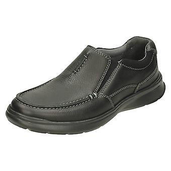 Mens Clarks Casual Shoes Cotrell Free - Black Oily Leather - UK Size 7G - EU Size 41 - US Size 8M