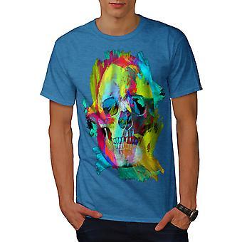 Colorful Paint Rock Men Royal BlueT-shirt | Wellcoda