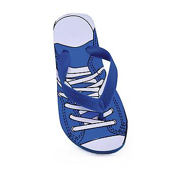 Childrens/Boys Trainer Print Flip Flops