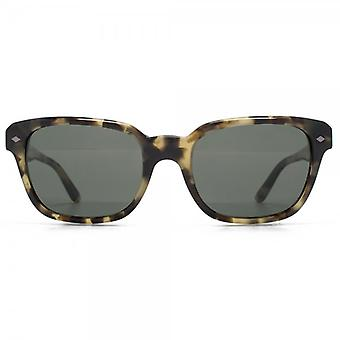 Giorgio Armani Classic Square Sunglasses In Green Havana Polarised