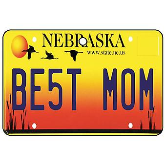 Nebraska - Best Mom License Plate Car Air Freshener