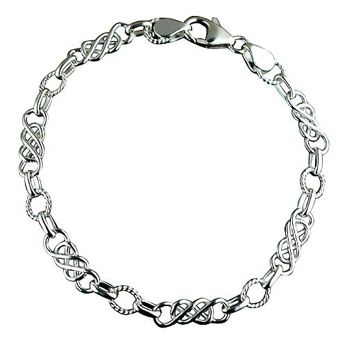 Silver fancy handmade Bracelet Chain 7 and a half inches