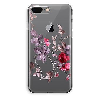 iPhone 8 Plus Transparant caso - fiori molto carini