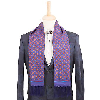 Claudio Lugli Purple Silk Scarf In Geometric Print