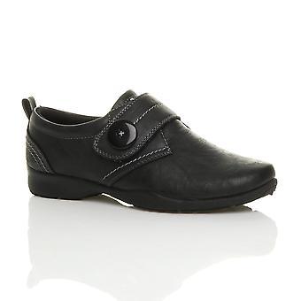Womens Ajvani baixa de calcanhar & Correia inteligente trabalho casual conforto sapatos de loop