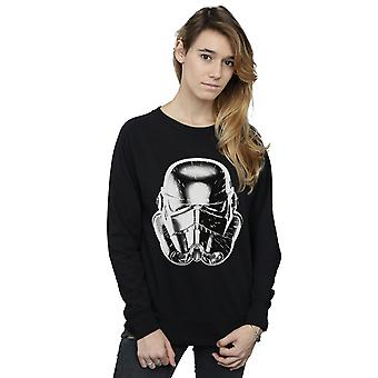 Star Wars Women's Stormtrooper Warp Speed Helmet Sweatshirt