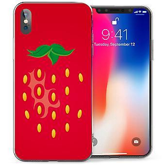 iPhone X клубника ТПУ геля - красный
