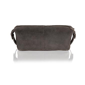 Woodland Leather Large Single Zip Wash Bag