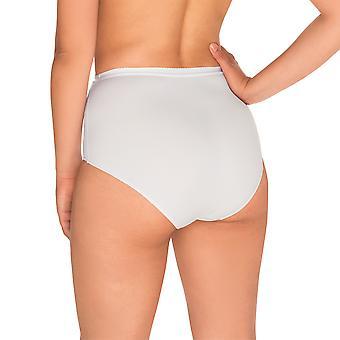 Sans Complexe 1538-Blanc kvinners perfekt Løft hvit firma/Medium kontroll slanking forme høy midje kort