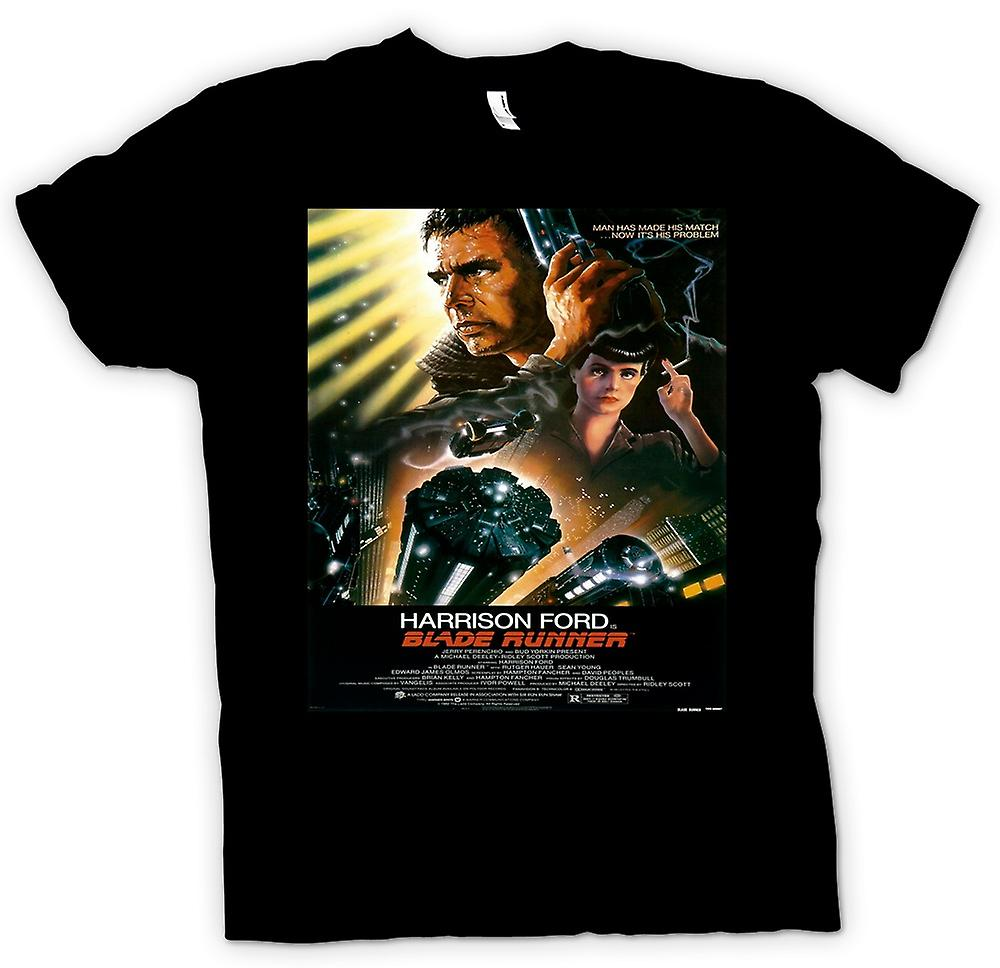 Heren T-shirt - Blade Runner - Sci Fi - Movie - Poster