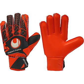 UHLSPORT AERORED zachte SUPPORTFRAME JUNIOR keeper handschoenen
