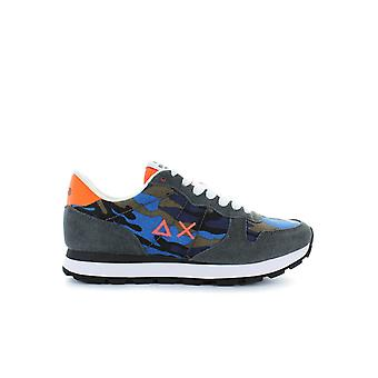 SUN68 RUNNING CAMOU CANVAS NAVY CAMOUFLAGE SNEAKER