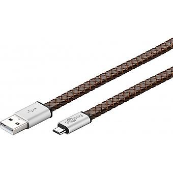 EchtLeder USB sync & charge cable - for devices with micro USB plug