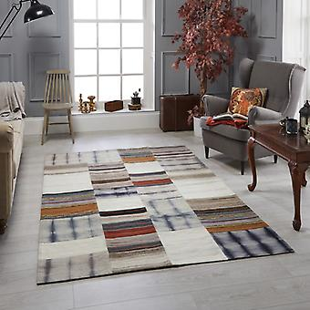 Navajo Grey Blocks  Rectangle Rugs Traditional Rugs